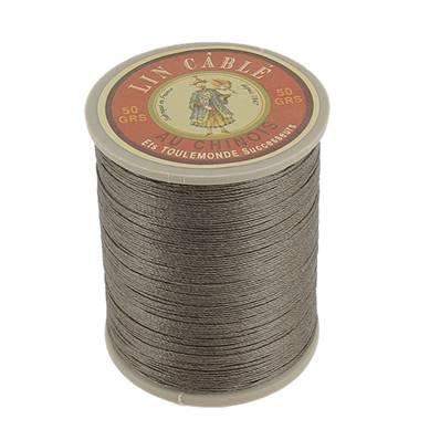 Bobine fil de lin au chinois câblé glacé - 332 - TAUPE 518