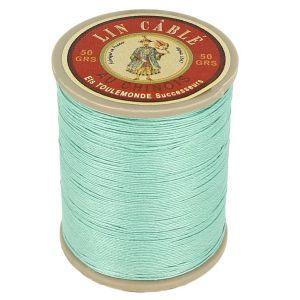 Bobine fil de lin au chinois câblé glacé - 332 - JADE 448