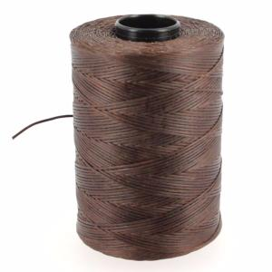 Bobine de fil polyester tressé et ciré - 500 mètres - diam 0,8 mm - MARRON