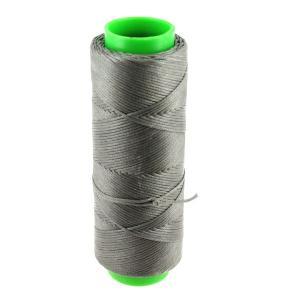 Bobine de fil polyester tressé et ciré - 100 mètres - diam 1 mm - GRIS
