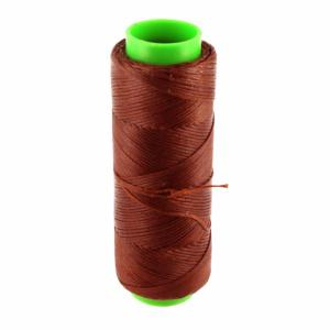 Bobine de fil polyester tressé et ciré - 100 mètres - diam 1 mm - ROUILLE