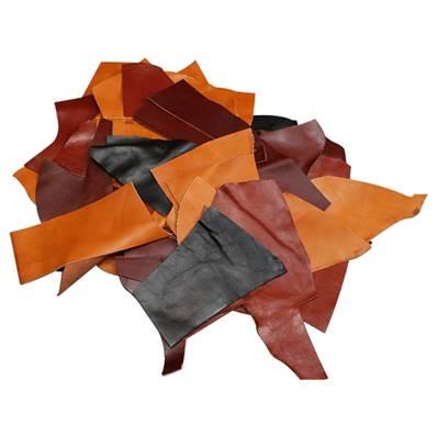 Lot de 1 kg de chutes de cuir LUXE - DIVERS COLORIS