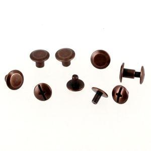Lot de 5 Vis CHICAGO - Vieux cuivre - 9 mm de diamètre