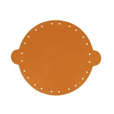 Cuir déja coupé pour faire une bourse en cuir CARAMEL - Diamètre 20 cm