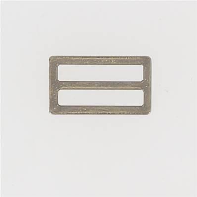 Passant double rectangulaire et plat - Laiton Vieilli - 25 mm