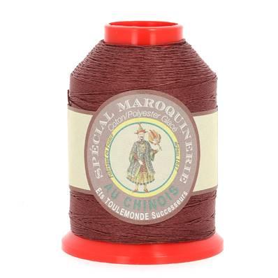 Fil Spécial Maroquinerie polyester coton - 28/4 - 0,52 mm - BRIQUE