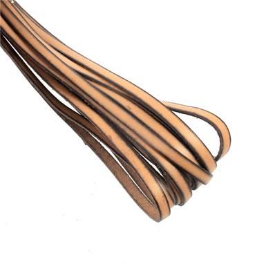20 cm de lacet en cuir MARRON CLAIR - largeur 5 mm