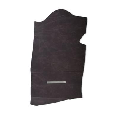 Demi croupon de croûte de vachette - MARRON FONCE pigmenté