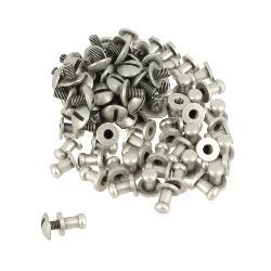 Lot de 50 boutons de col à vis T3 - Argent vieilli avec vis 3x5mm