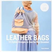 """Livre """"LEATHER BAGS"""" -  Sacs en Cuir : 14 Modèles élégants à coudre pour toutes occasions"""