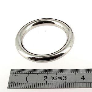 Anneau rond soudé - acier NICKELE - 25 mm - Fil 4 mm