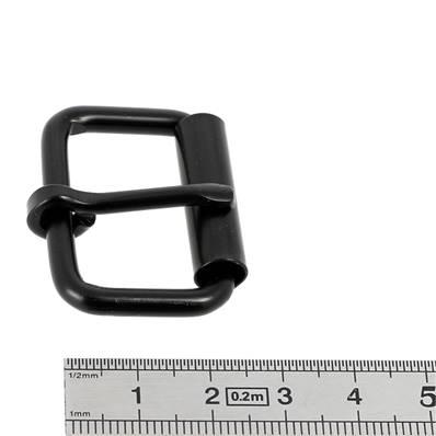 Boucle à rouleau à ardillon - NOIR MAT - 30 mm