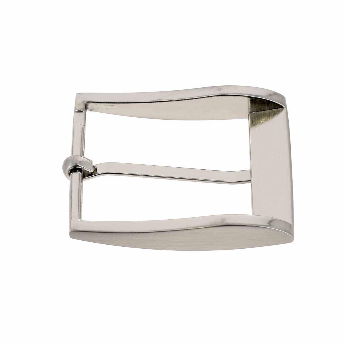 Boucle de ceinture ELI - NICKELE SATINE - 40 mm