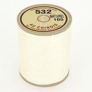 Bobine fil de lin au chinois câblé glacé - 532 - NATUREL 105