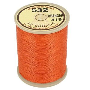 Bobine fil de lin au chinois câblé glacé - 532 - ORANGE 419