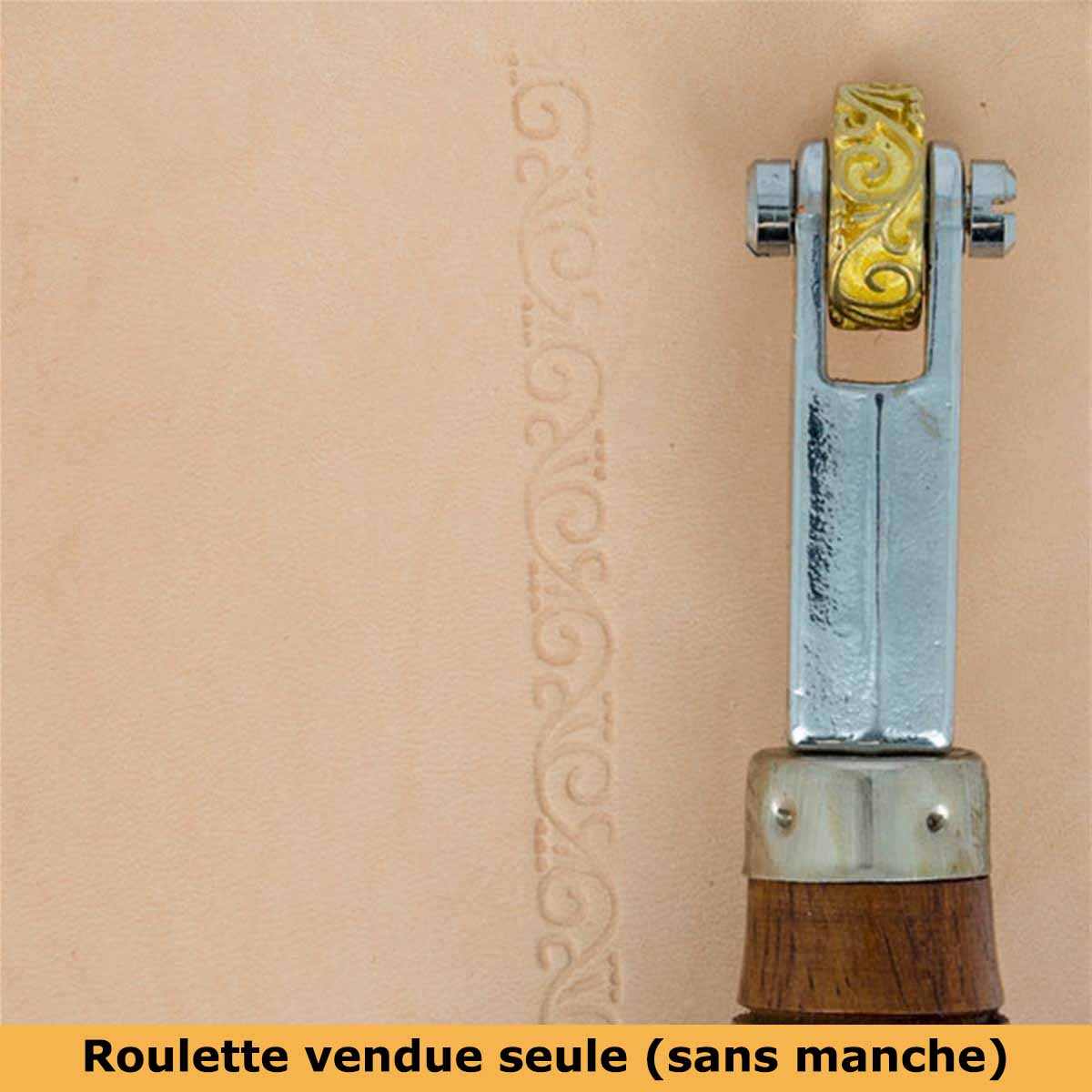 Roulette d'embossage 8091-03 montée sur manche