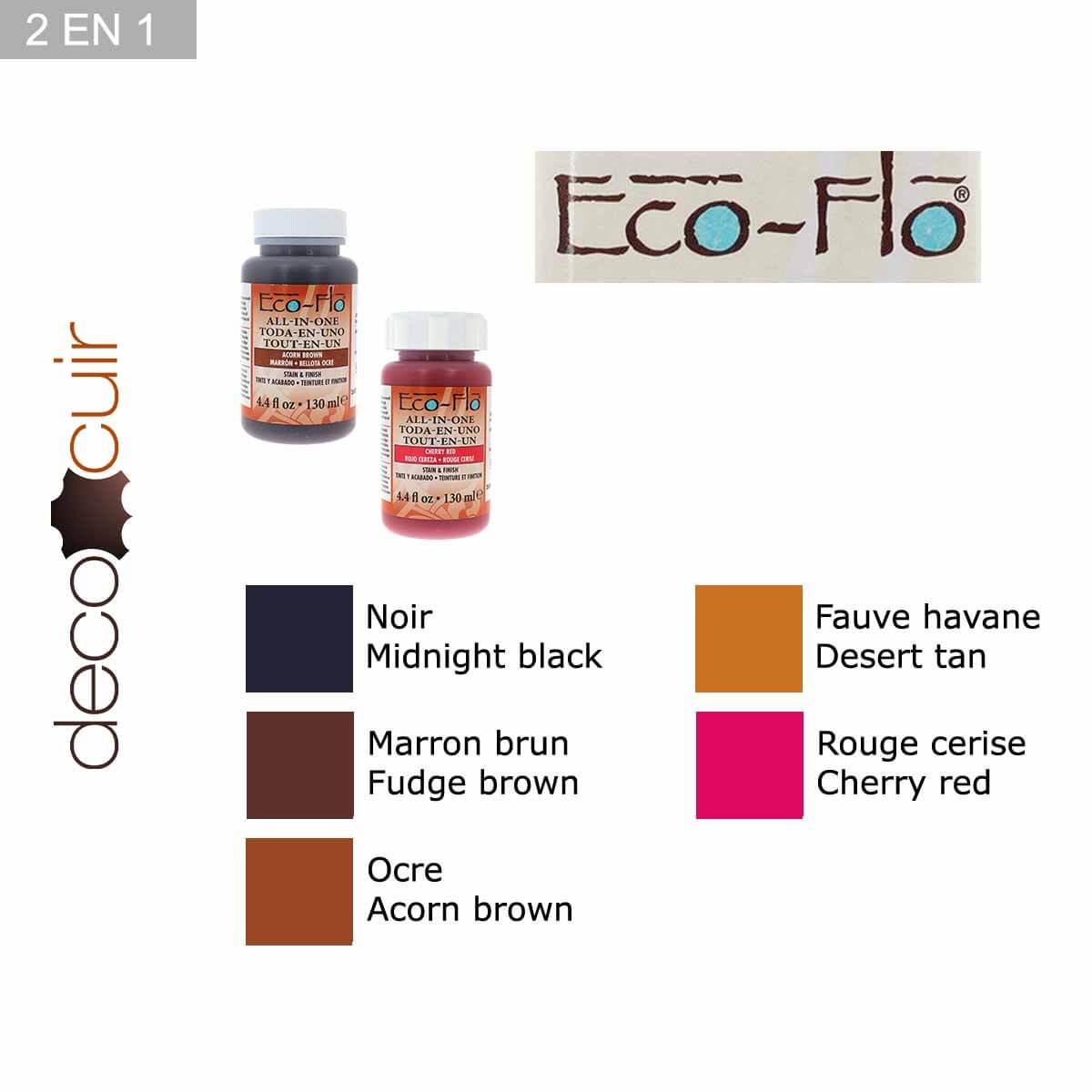 Teinture 2 en 1 pour cuir - Eco-Flo - 130ml