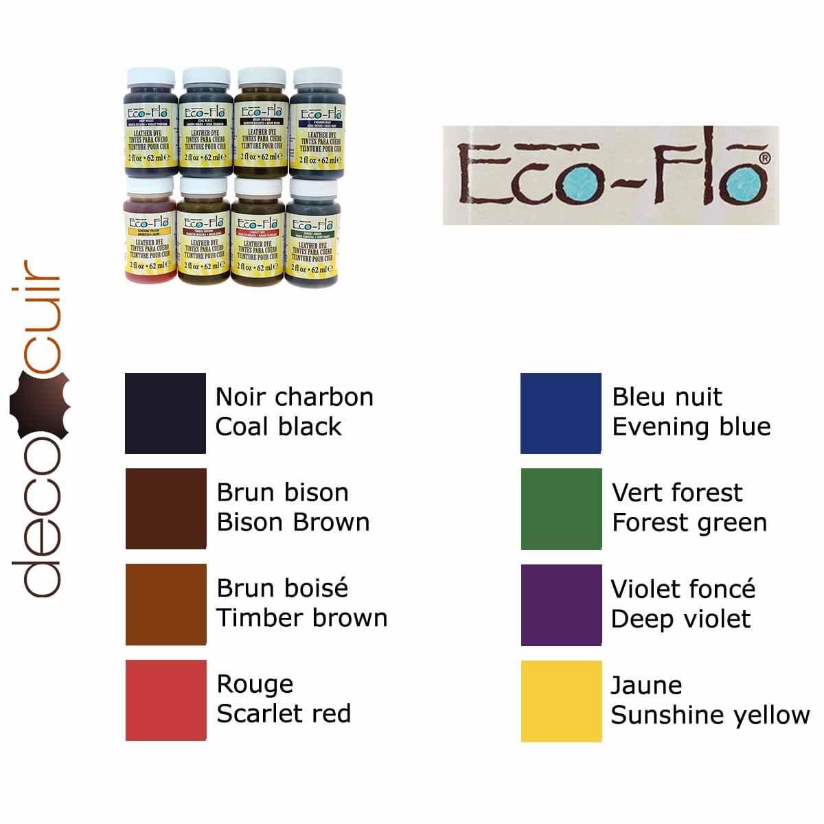 Lot de 8 teintures opaques base aqueuse - Eco-Flo #05