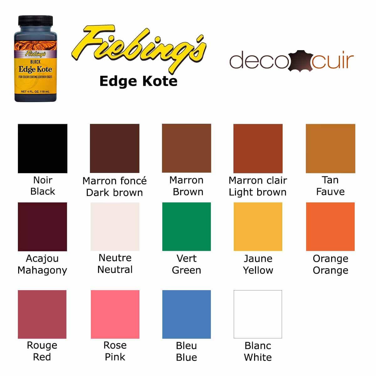 Finition de tranche pour cuir - Fiebing's edge kote - 118ml