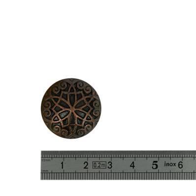 Concho NOEUD GOTHIQUE - 26 mm - Vieux cuivre