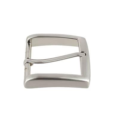 Boucle de ceinture MAX - NICKELE SATINE - 35 mm