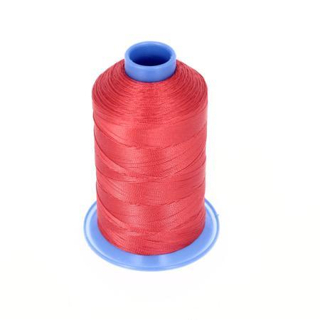 Bobine de fil polyester retors N° 60 - 700 mètres - Rouge