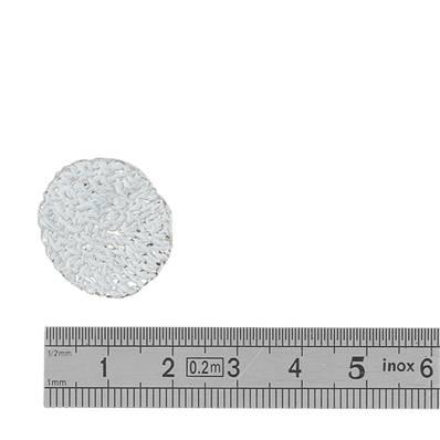 Concho POLAIRE - 22 mm - BLANC ET ARGENT