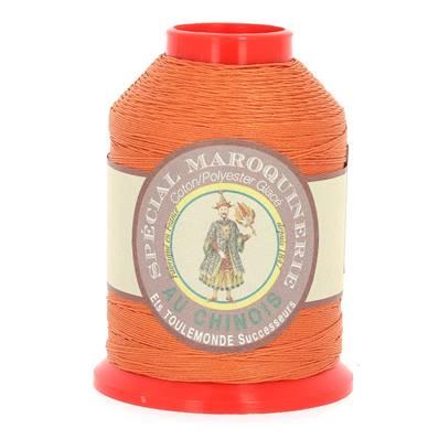 Fil Spécial Maroquinerie polyester coton - 28/4 - 0,52 mm - ORANGER