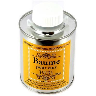 Baume pour cuir - Huile palma incolore- flacon de 500 ml avec pinceau