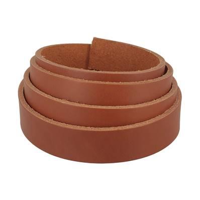 Lanière de cuir de collet - COGNAC - Larg 24 mm - Long 120 cm