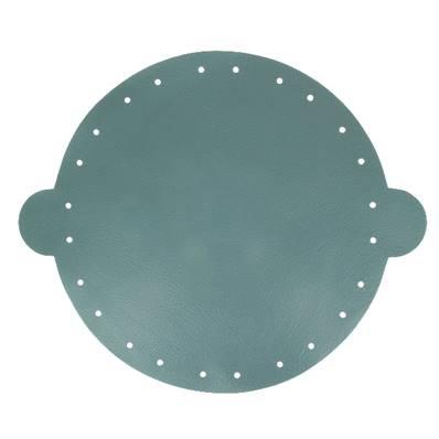 Cuir déjà coupé pour faire une bourse en cuir BLEU FONCÉ - Diamètre 25 cm