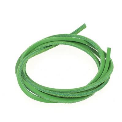 Lacet en cuir carré - largeur 2.8 mm - Vert clair