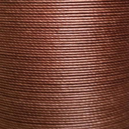 Bobine de 90m de fil de lin ciré MeiSi super fine M40 - 0,45 mm - TERRE DE SIENNE - MS083