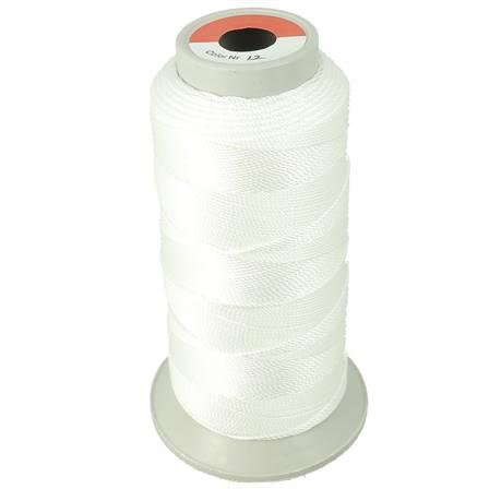 Bobine de fil polyester N°8 - 200 m - Blanc