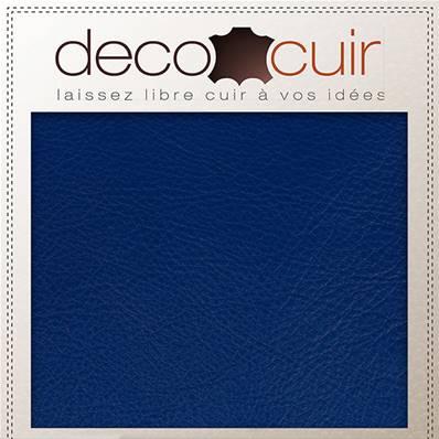 Morceau de cuir SWEET 2 - BLEU ELECTRIQUE - 20x30 cm - Ép 0,7 mm