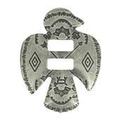 6 Conchos à lacer NAVAJO - 33x44 mm - Vieux nickel
