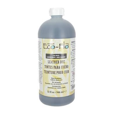 Teinture NOIR CHARBON à base d'eau - Eco-Flo N°1 - 946 ml