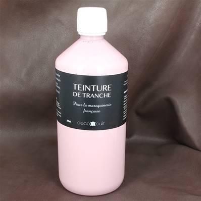 Finition de tranche ROSE PASTEL MAT pour cuir - Deco Cuir - 1 litre