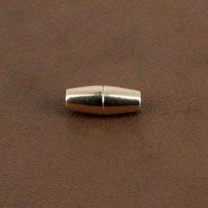 Fermoir bijou - Cylindre conique aimanté - Or rose - Lacet rond 3 mm