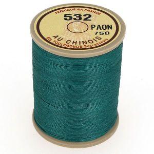 Bobine fil de lin au chinois câblé glacé - 532 - PAON 750