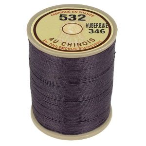 Bobine fil de lin au chinois câblé glacé - 532 - AUBERGINE 346