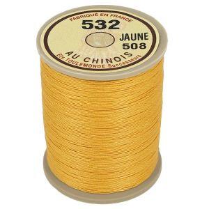 Bobine fil de lin au chinois câblé glacé - 532 - JAUNE 508