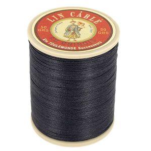 Bobine fil de lin au chinois câblé glacé - 332 - BLEU MARINE 812