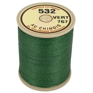 Bobine fil de lin au chinois câblé glacé - 532 - VERT 767