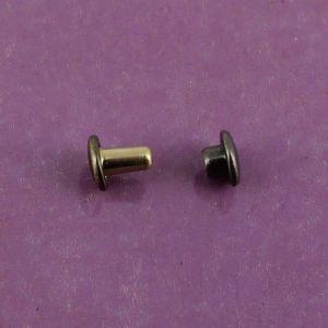 Lot de 100 petits rivets DOUBLE CALOTTE en laiton (T1) finition Laiton vieilli