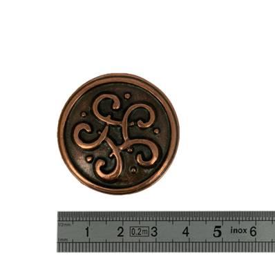 Concho NOEUD CELTIQUE - 35 mm - Vieux cuivre