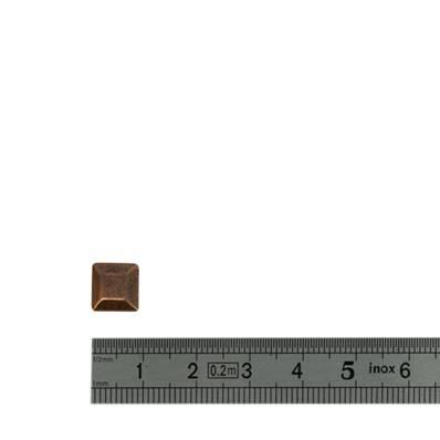 Concho TRAPEZE - 9 x 9 mm - Vieux cuivre