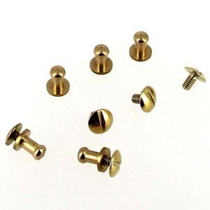 Lot de 5 boutons de col à vis T3 - Laiton avec vis 3x5mm