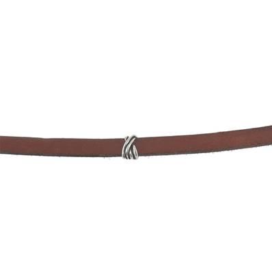 Coulissant TRESSE - Lanière de 10 mm - ARGENT VIEILLI