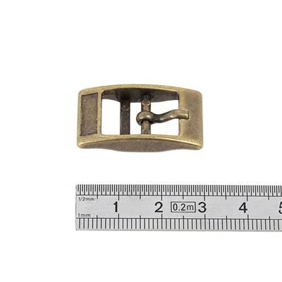 Boucle double KIM - LAITON VIEILLI - 12 mm